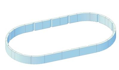 KWAD Pool - Protector »T60«, BxLxH: 370x610x60 cm kaufen