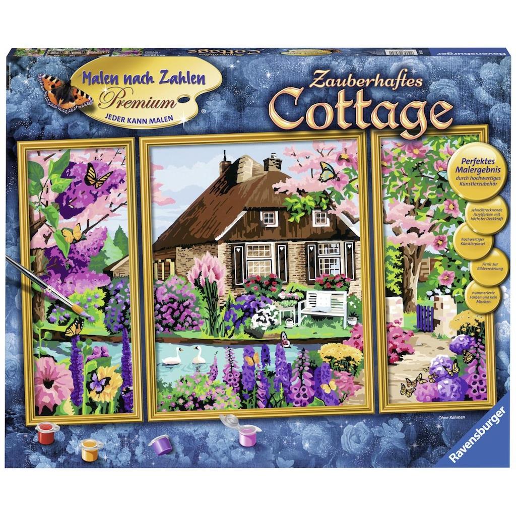 Ravensburger Malen nach Zahlen »Zauberhaftes Cottage«, Made in Europe, FSC® - schützt Wald - weltweit