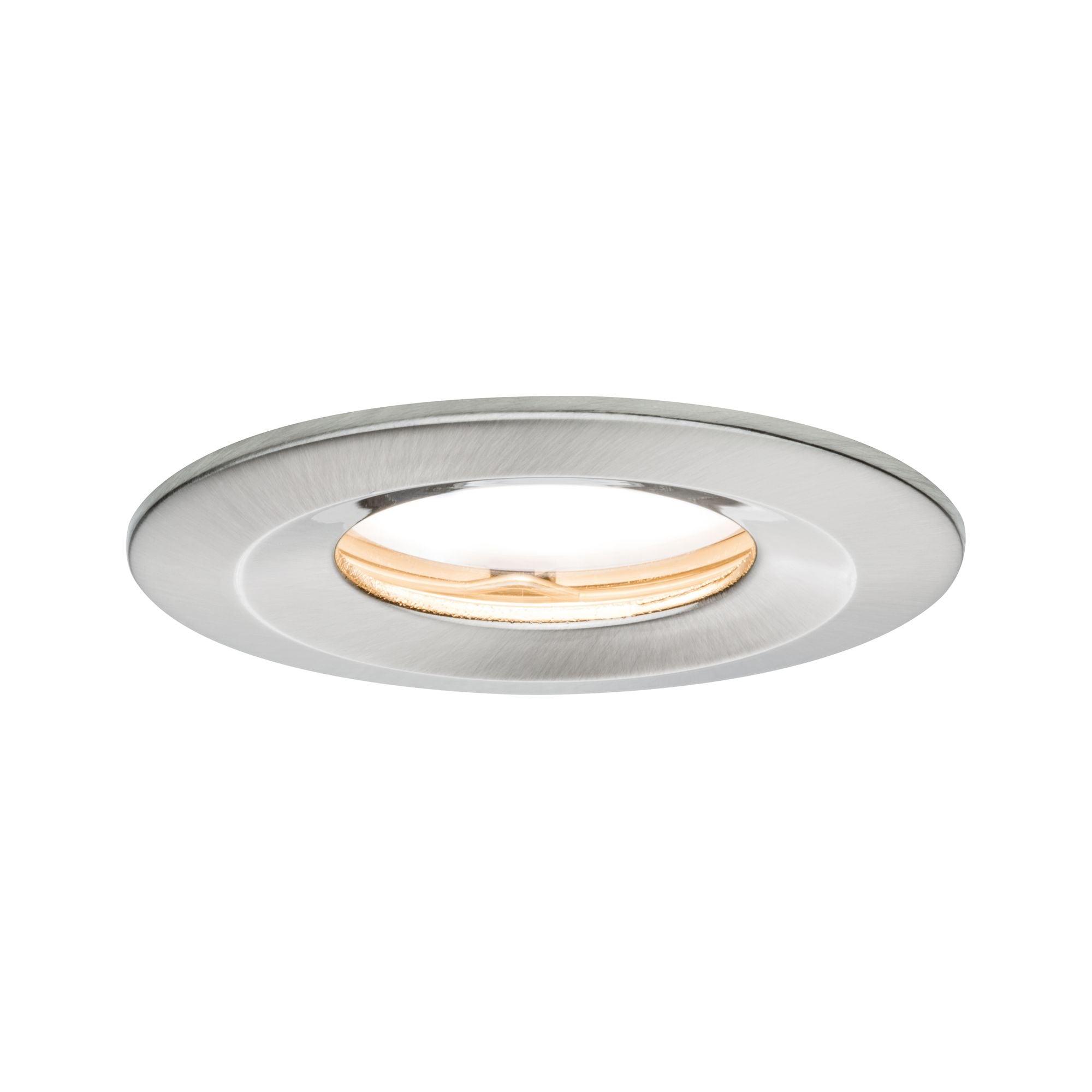 Paulmann LED Einbaustrahler dimmbar IP65 rund Eisen Coin Slim 6,8W, 1 St., Warmweiß