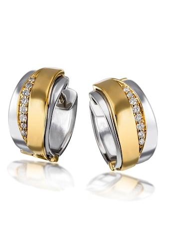 goldmaid Paar Creolen 925/- Silber 16 Brill. 0,10 ct. P2/H kaufen