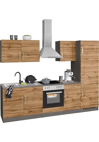 HELD MÖBEL Küchenzeile »Stockholm«, mit E-Geräten, Breite 270 cm, mit hochwertigen MDF... kaufen