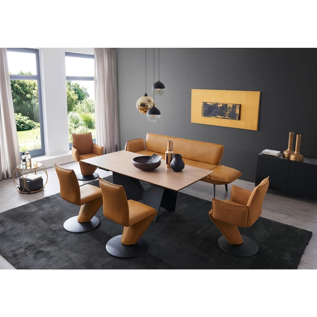 K+W Komfort & Wohnen Essgruppe »Drive«, (Set, 6 tlg.), Solobank mit Armteilverstellung, 2 Drehstühle, 2 Drehsessel und Tisch mit Auszugfunktion 200-300cm