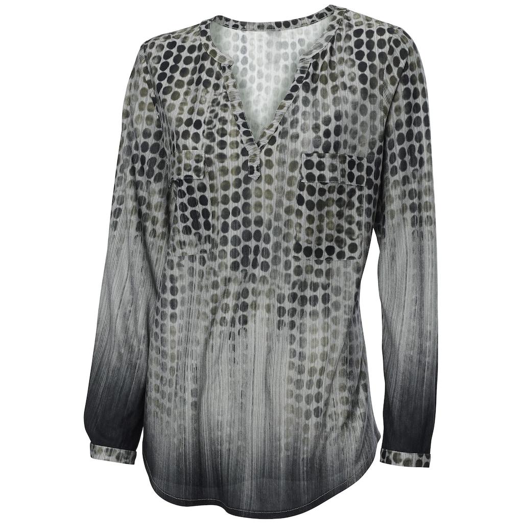 Shirtbluse mit Punkte-Dessin