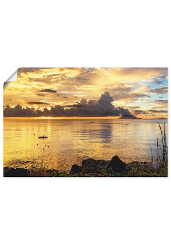 Artland Wandbild »Sonnenuntergang mit einem Boot«, Sonnenaufgang & -untergang, (1... kaufen