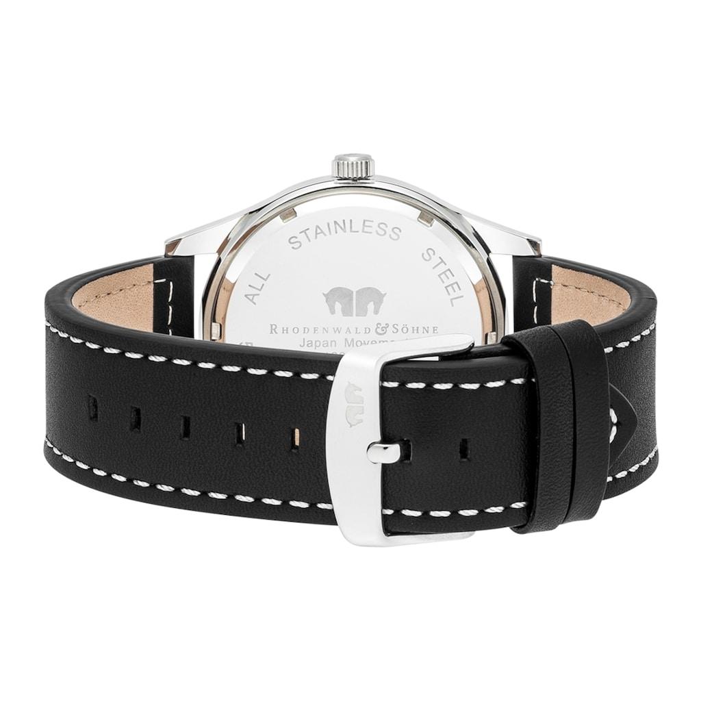 Rhodenwald & Söhne Quarzuhr »RWS009«, (1 tlg.), Armband aus Echtleder