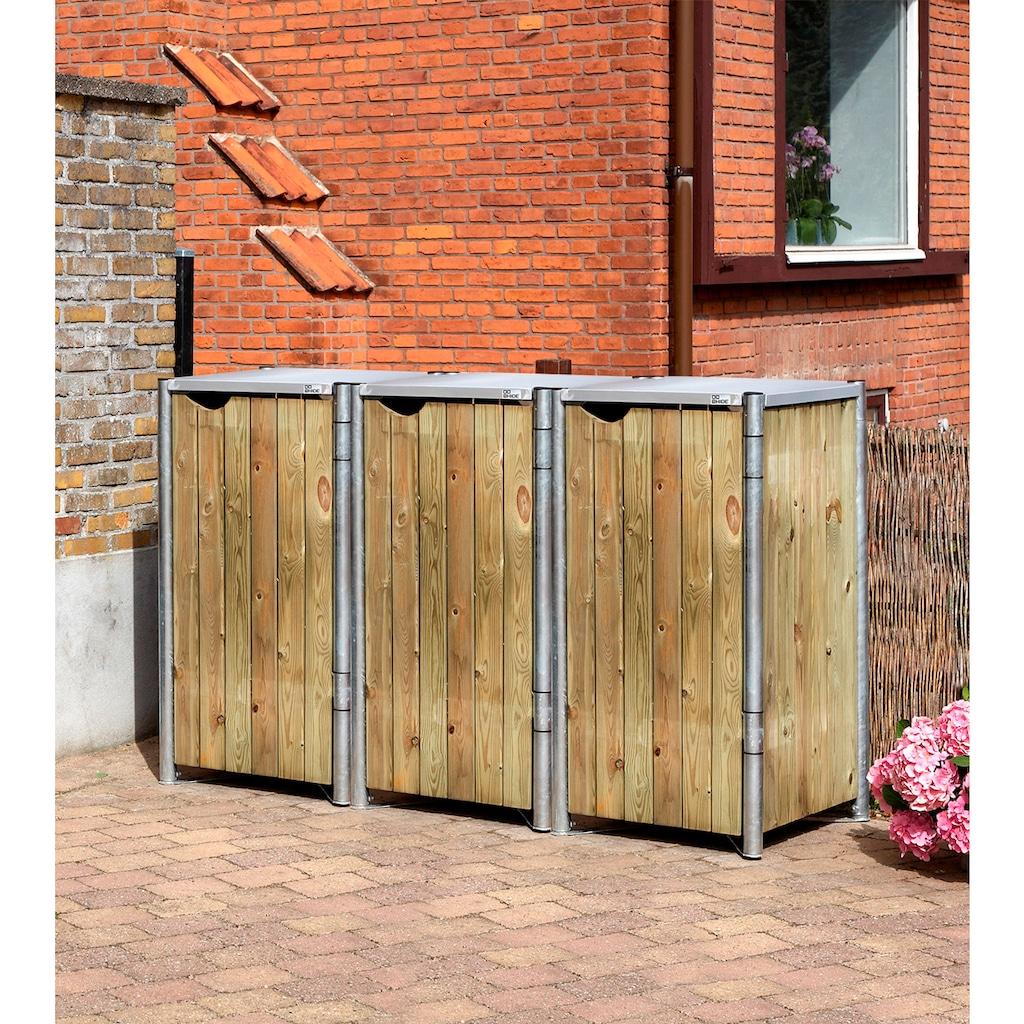 Hide Mülltonnenbox, für 3 x 120 l, natur