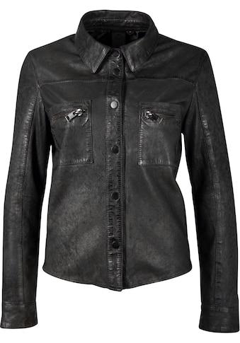Gipsy Lederjacke »Akesha«, Slimfit- Lederhemd mit Druckknöpfen kaufen