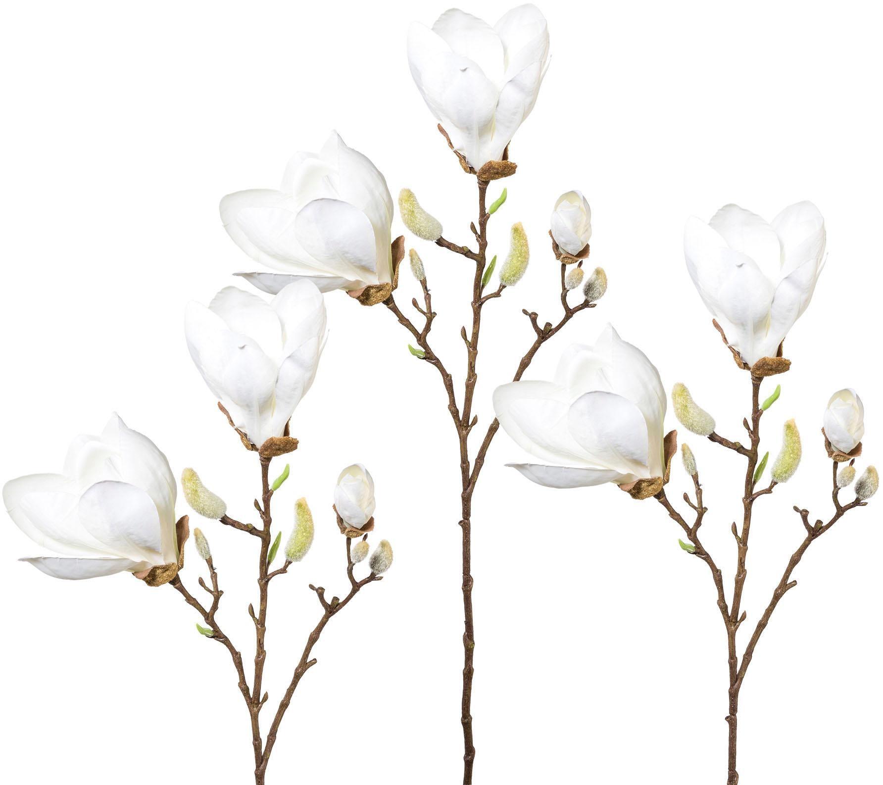 Kunstblume, 3er Set weiß Künstliche Zimmerpflanzen Kunstpflanzen Wohnaccessoires Kunstblume