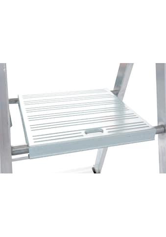 KRAUSE Stehleiter »Solidy«, Aluminium, 1x8 Stufen, Arbeitshöhe ca. 370 cm kaufen