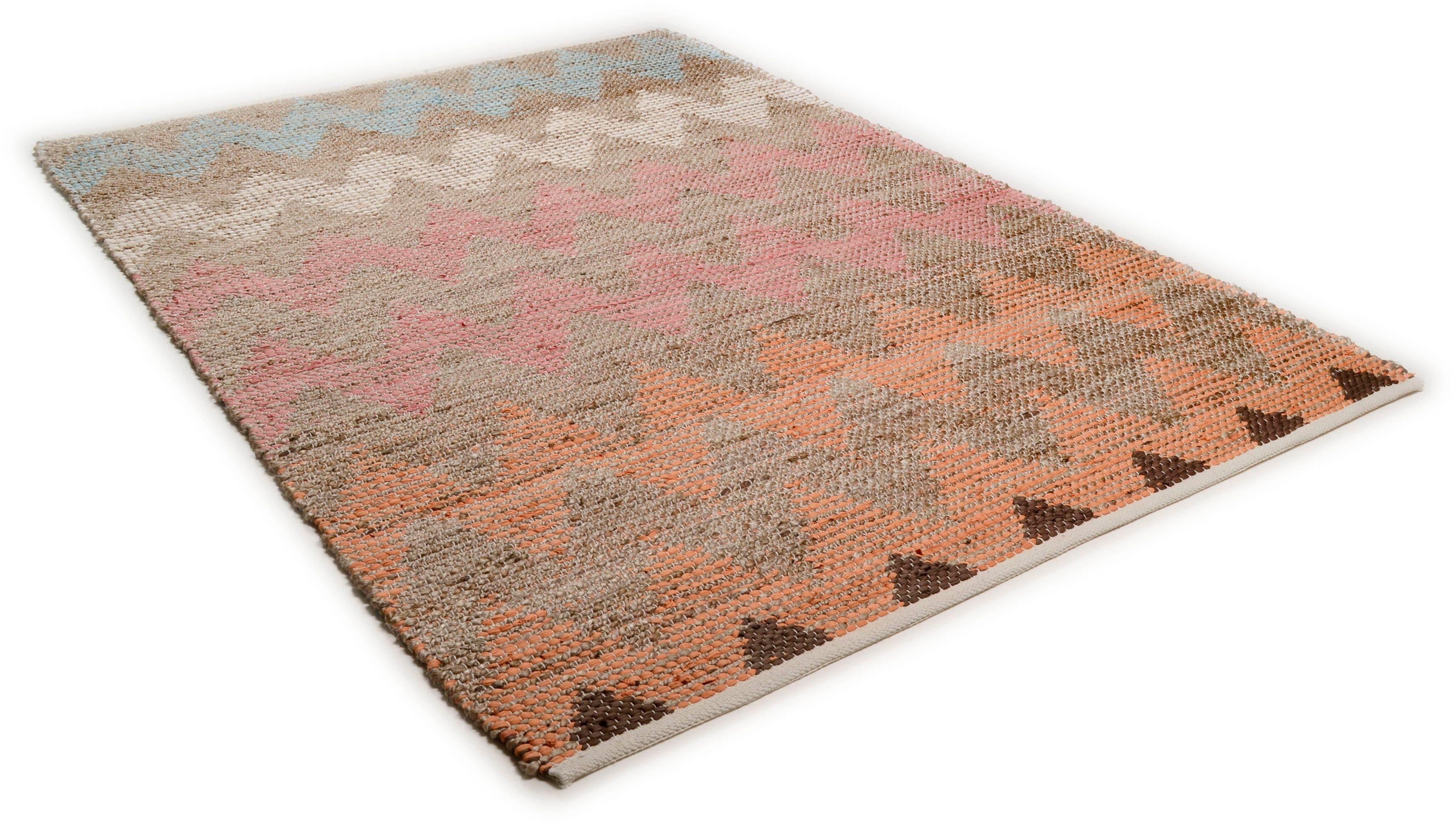 Teppich Pastel Zigzag TOM TAILOR rechteckig Höhe 7 mm