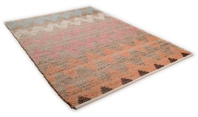 TOM TAILOR Teppich »Pastel Zigzag«, rechteckig, 7 mm Höhe, Flachgewebe, Wohnzimmer kaufen