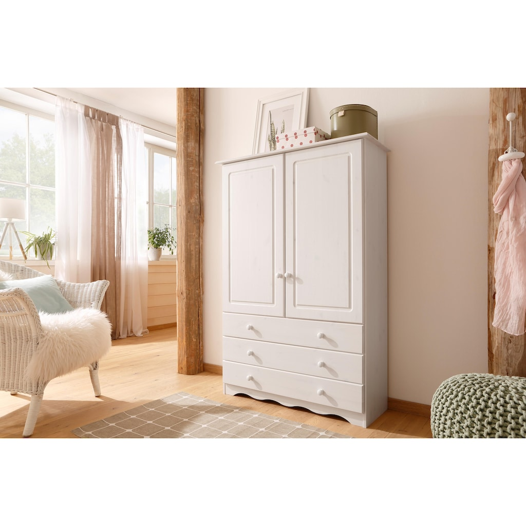 Home affaire Wäscheschrank »Minik«, aus schönem massivem Kiefernholz, in unterschiedlichen Farbvarianten