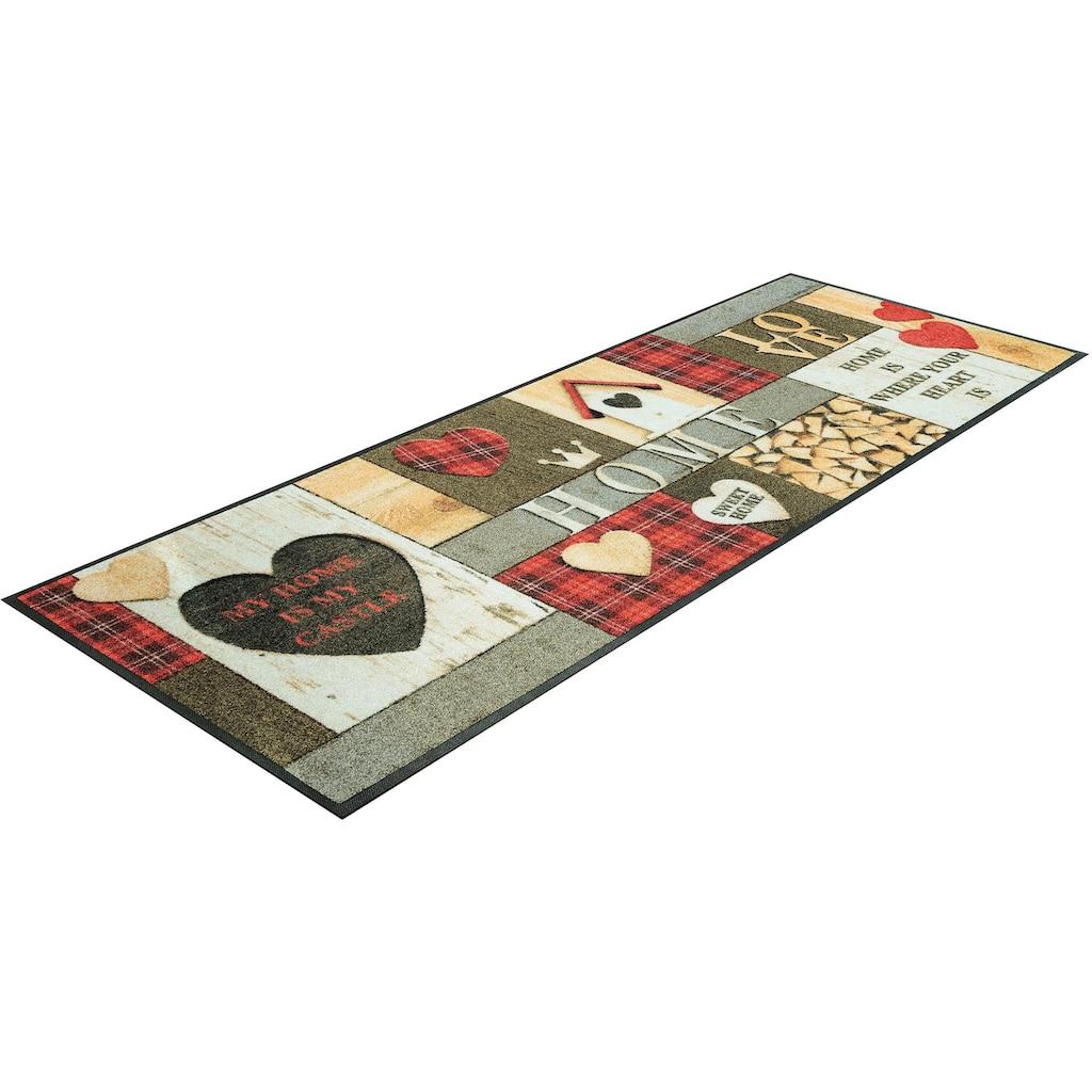 Läufer, »Cottage Home«, wash+dry by Kleen-Tex, rechteckig, Höhe 7 mm, gedruckt