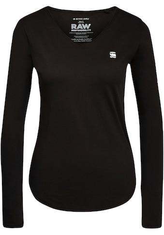 G-Star RAW Langarmshirt »Rolled Edge Long Sleeve Top C«, mit Rollkanten an den... kaufen