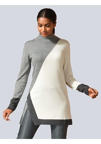 Alba Moda Pullover in Farbflächen gearbeitet kaufen