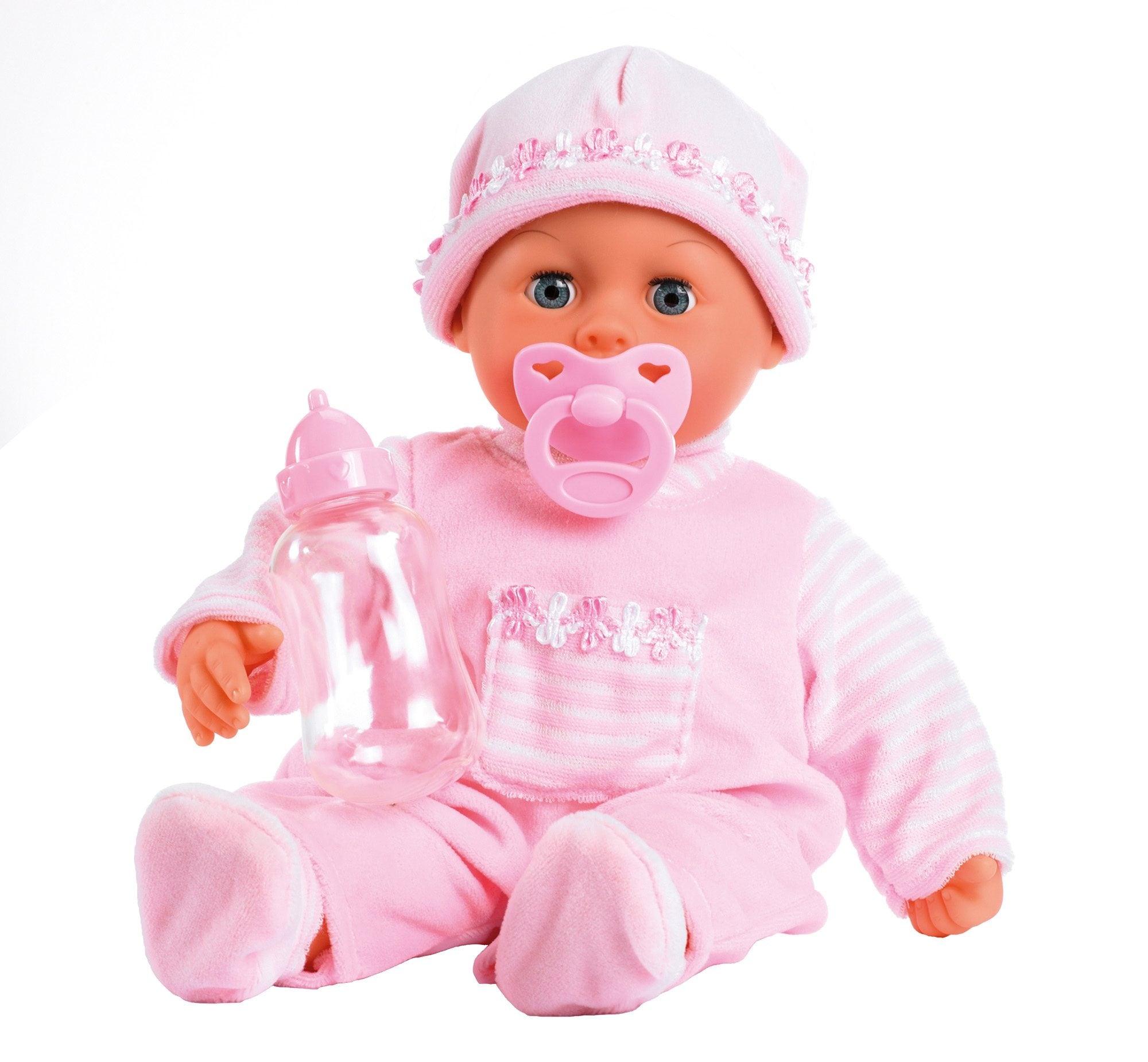 Bayer Babypuppe First Words, rosa Kinder Babypuppen Puppen