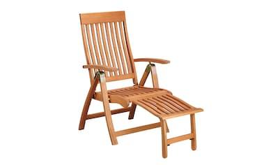 MERXX Relaxsessel »Comodoro«, Eukalyptusholz, verstellbar, klappbar, braun kaufen