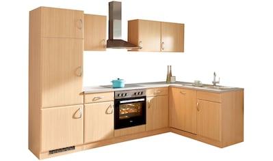 wiho Küchen Winkelküche »Prag«, mit E-Geräten, 280 x 170 cm kaufen