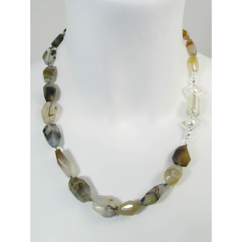 Adelia´s Kette ohne Anhänger »Achat Montana Halskette«