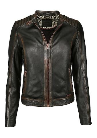 MUSTANG Lederjacke »31019272«, in Vintage Farbe kaufen