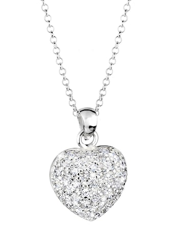 Elli Kette mit Anhänger »Herz Liebe Zirkonia Kristalle 925 Silber« kaufen