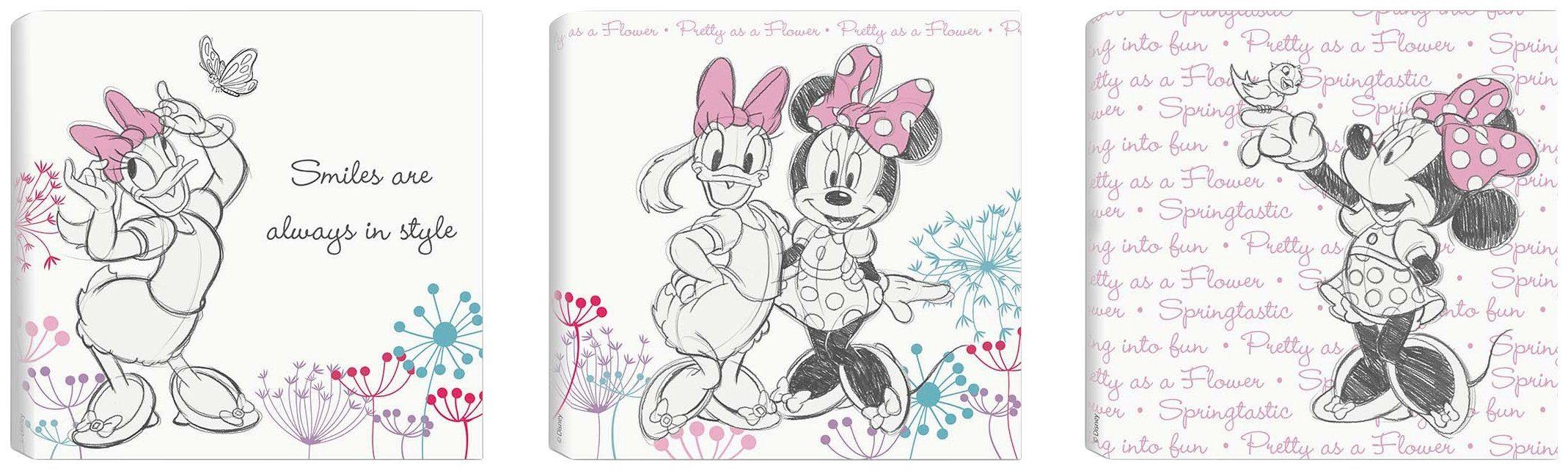 Disney Leinwandbild Minnie & Daisy (Set) rosa Leinwandbilder Bilder Bilderrahmen Wohnaccessoires 88498811