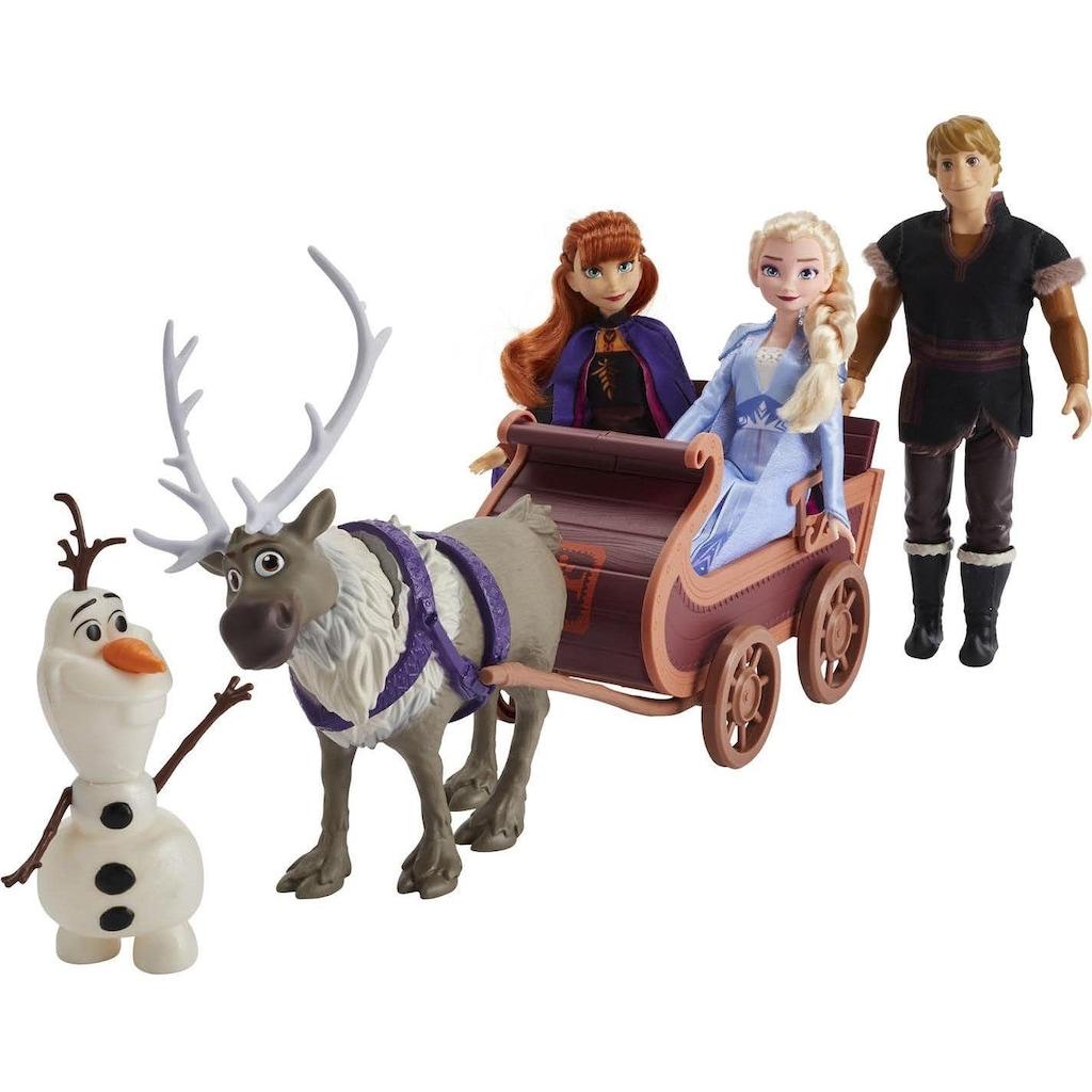 Hasbro Anziehpuppe »Die Eiskönigin II, Puppenschlitten, Abenteuerliche Schlittenfahrt«, (Set, 3 Puppen, 2 Figuren & Schlitten)