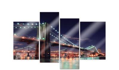 Wall-Art Mehrteilige Bilder »Nacht in Manhattan (4-teilig)«, (Set, 4 St.) kaufen