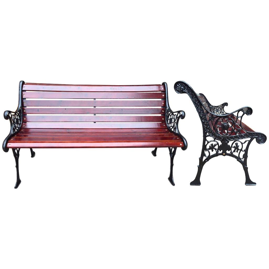 GARDEN PLEASURE Gartenbank »Versailles«, Stahl / Eukalyptusholz, 126x57 cm