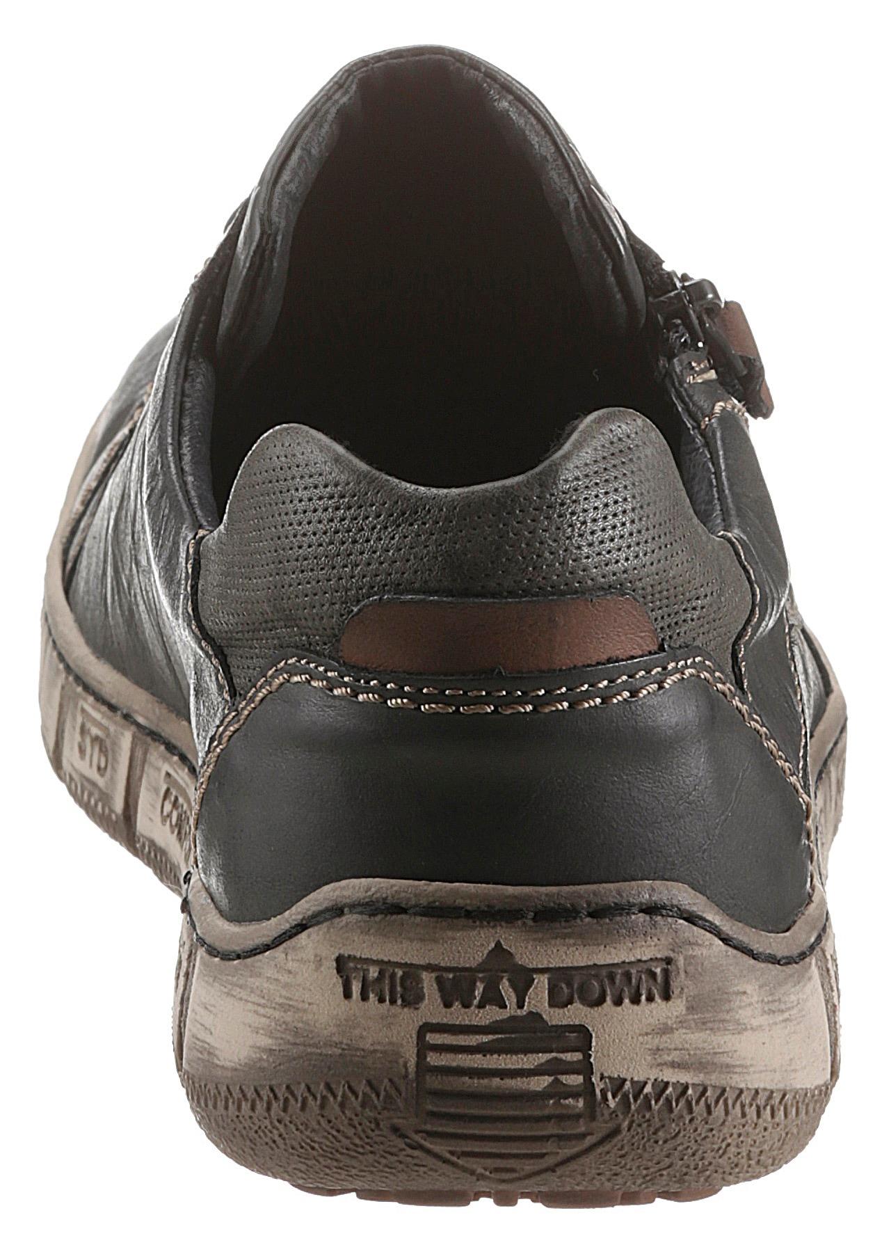 kacper -  Schnürschuh, mit zusätzlichem Reißverschluss