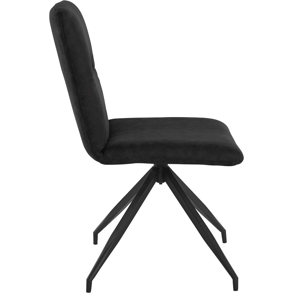 Places of Style Drehstuhl »Loxley«, 2er Set, in Kunstleder- oder Luxus-Microfaser Bezug auswählbar, vier Farbvarianten, Sitzhöhe 46 cm