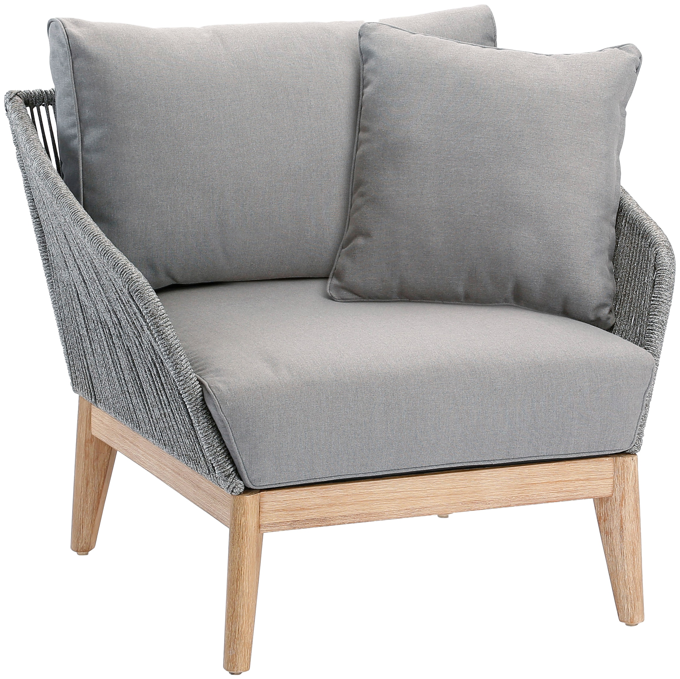 BEST Loungesessel Samos Eucalyptus inkl Auflagen