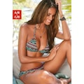 LASCANA Triangel-Bikini-Top »June«, mit Zierringen