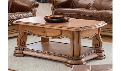 Premium collection by Home affaire Couchtisch »Grizzly«, aus massiver Eiche, 134 cm breit kaufen
