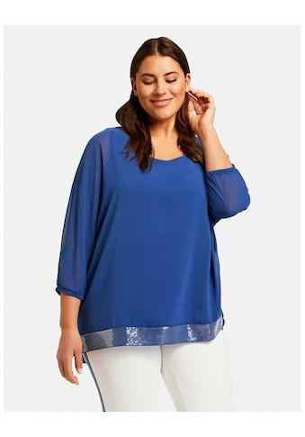 Samoon T - Shirt Kurzarm Rundhals »Festliche Bluse mit Paillettensaum« kaufen