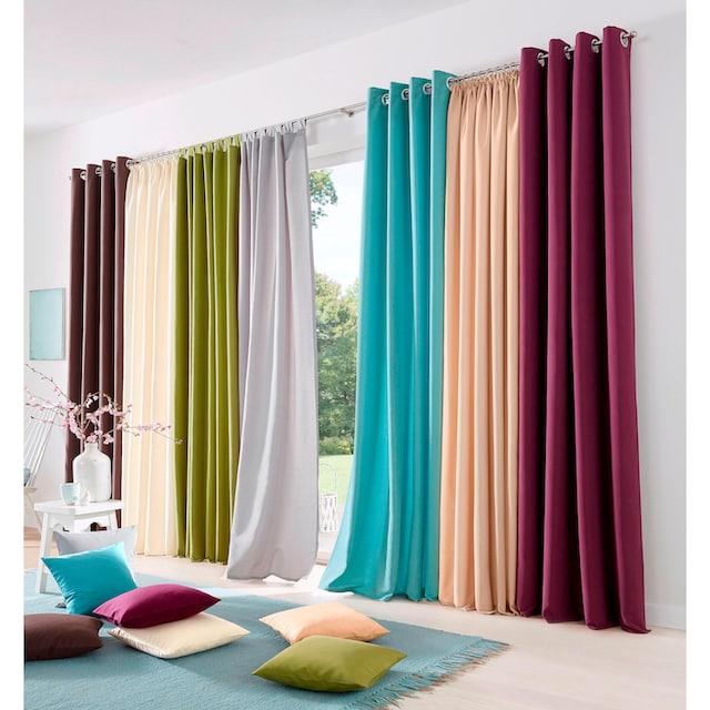 Vorhang, »Raja«, my home, Ösen 2 Stück