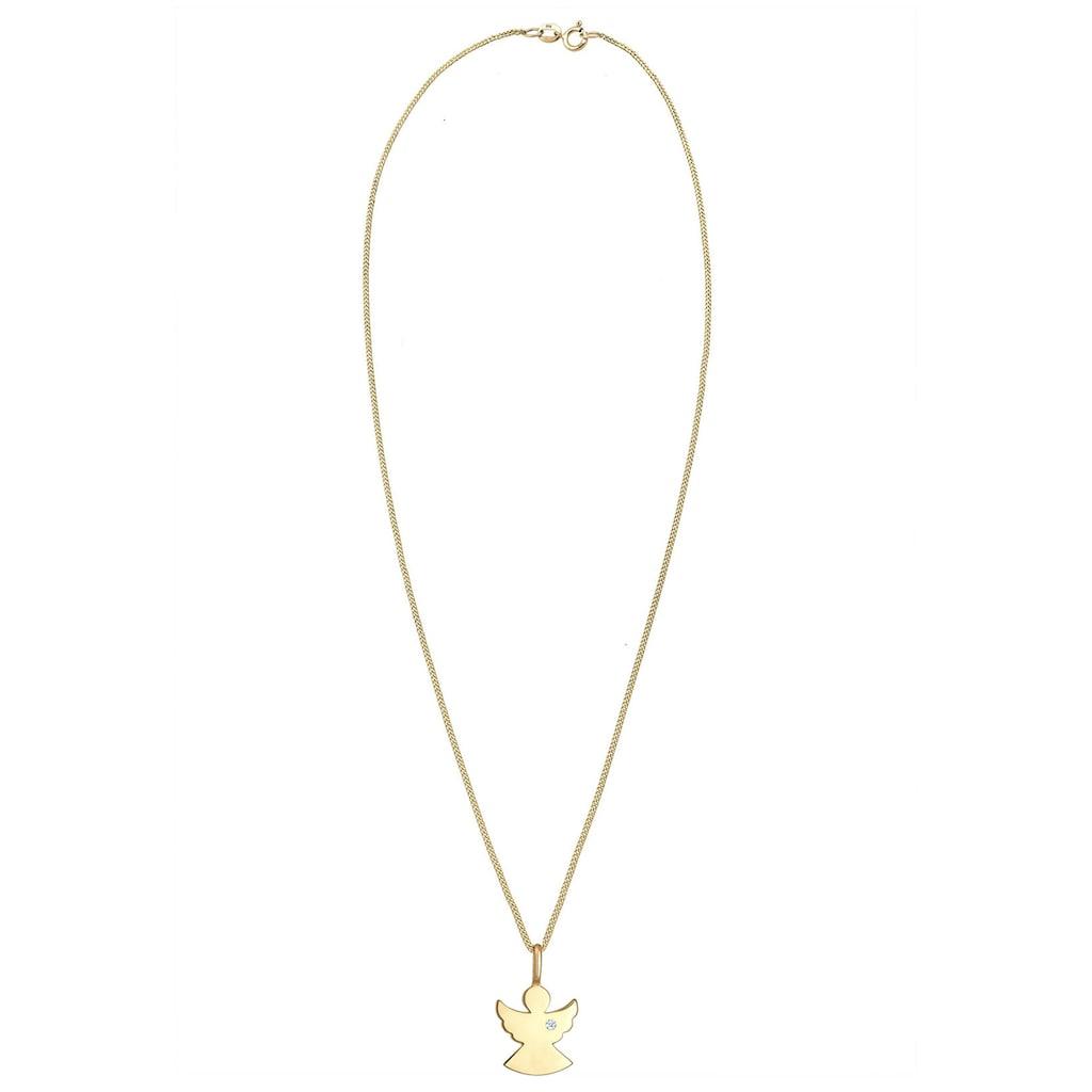 Diamore Collierkettchen »Engel Schutz Diamant (0.015 ct.) 585 Gelbgold«
