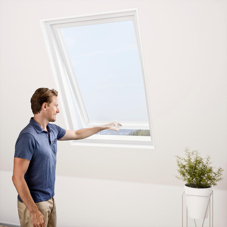 Windhager Moskitonetz für Dachfenster, Insektenschutzgitter, BxH: 130x150 cm weiß Fliegengitter Insektenschutz Bauen Renovieren