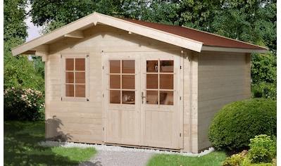 WEKA Set: Gartenhaus »Nils 1«, BxT: 420x320 cm, mit Vordach kaufen