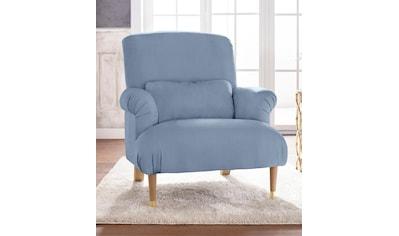 Guido Maria Kretschmer Home&Living XXL-Sessel »Cholet«, mit Zierkissen und Beinen aus Eiche, Bezugsqualität: Baumwollmix, Big kaufen