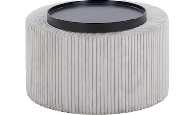 SalesFever Couchtisch, Bezug in moderner Cord-Optik kaufen