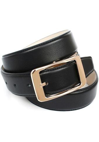 Anthoni Crown Ledergürtel, in Hirschprägung mit klassischer Schließe kaufen