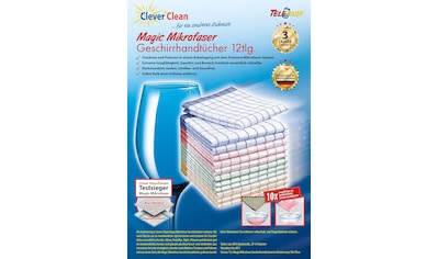 TELESHOP Geschirrtuch »CleverClean®Magic Mikrofaser«, (Set, 12 tlg.) kaufen