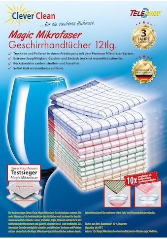 """TELESHOP Geschirrtuch """"CleverClean®Magic Mikrofaser"""" (Set, 12 - tlg.) kaufen"""