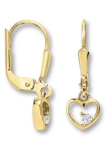 ONE ELEMENT Paar Ohrstecker »Ohrringe / Ohrhänger aus 333 Gelbgold Zirkonia« kaufen