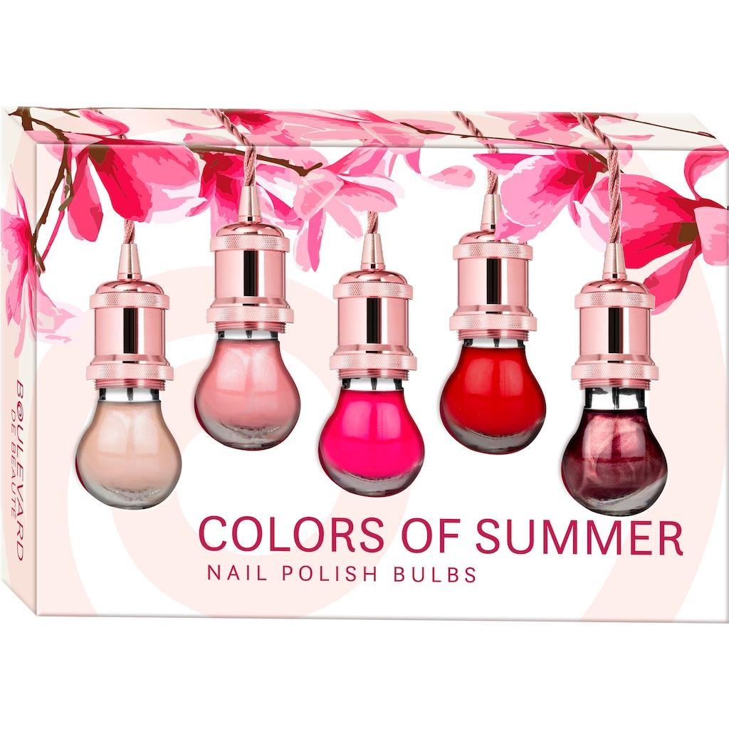 Boulevard de Beauté Nagellack-Set »Colors of Summer«, (5 tlg.)