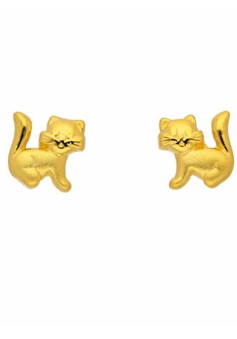 Adelia´s Paar Ohrstecker »333 Gold Ohrringe / Ohrstecker Katze«, Goldschmuck für Damen kaufen