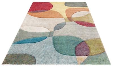my home Teppich »Liva«, rechteckig, 13 mm Höhe, Hoch-Tief-Effekt, Wohnzimmer kaufen