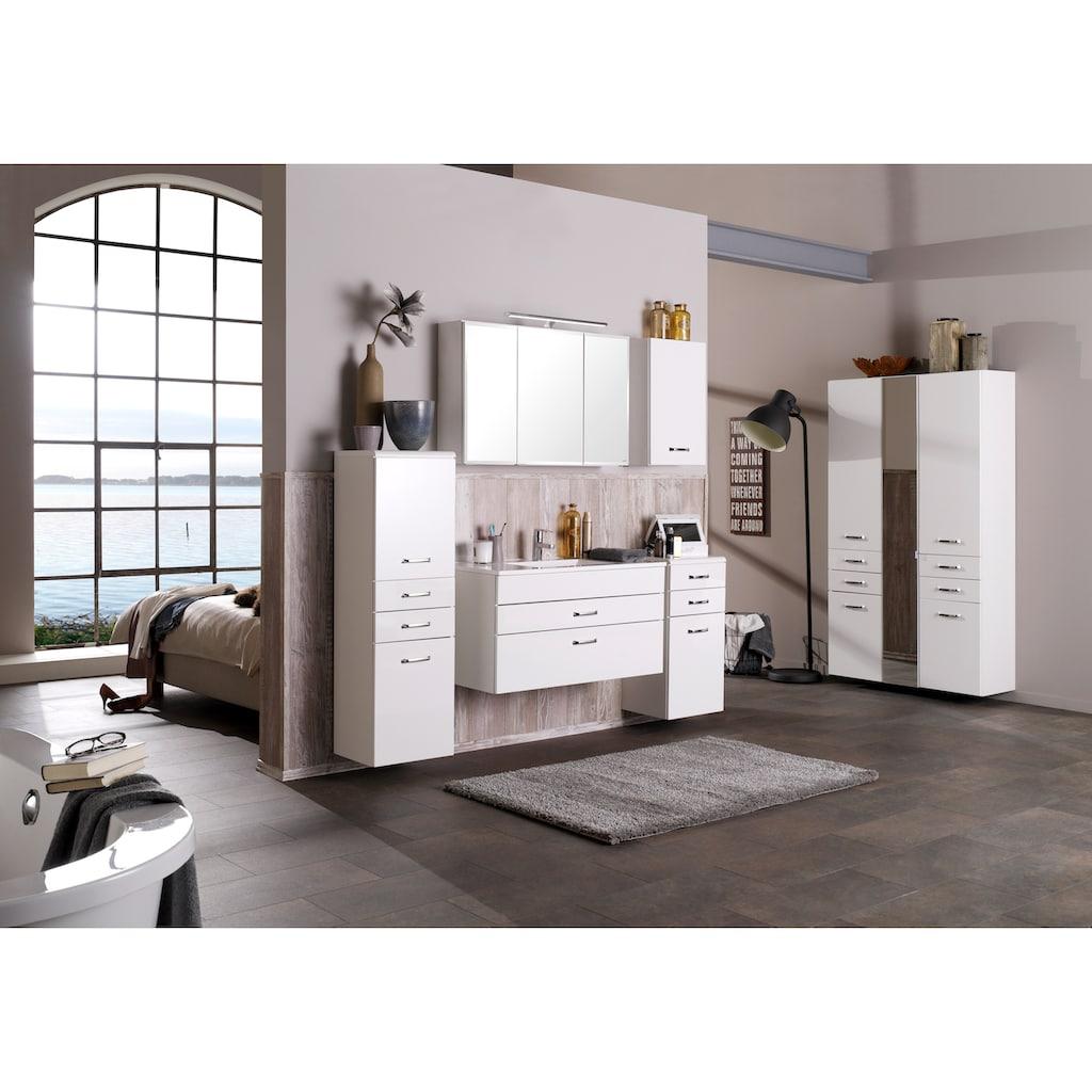HELD MÖBEL Spiegelschrank »Fontana«, Breite 80 cm, mit Soft-Close-Funktion, LED Aufsatzleuchte und Steckdose