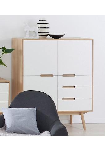 PBJ Highboard »Curve«, white oak im nordischen Design kaufen